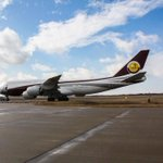 A Boeing 747 belonging to the royal family of Qatar landed at @FlyICT today! #PlaneSpotting http://t.co/1xEM6IIRU6