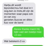 Pre-Glazen Huis SMS met mama. <3 #SeriousRequest #3FM #SR14 http://t.co/IF9dHzUePG