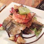 Mackerel w/ King Prawns & lime #Foodporrn #brighton #Hove http://t.co/Nuztosh7xF