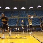 Morning shoot around at WVU Coliseum. @WoffordMBB takes on nationally ranked West Virginia tonight,7:30pm. #Wofford http://t.co/Zy3GkDE4Ew