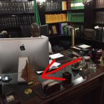 Running for VP of Nigeria, @ProfOsinbajo shares a picture of his desk which has flag of Yoruba nationalism on it... http://t.co/8avJBOJTUu