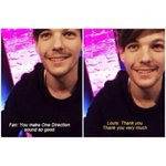 REMEMBER WHEN A FAN TOLD LOUIS HIS VOICE WAS SPECIAL HIS REACTION IS PRECIOUS #LouisWeLoveYourVoice http://t.co/NoWM4i24ai