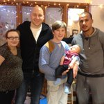 Villas youngest fan? 9 month old Brody meets @bguzan and Gabby at @AVFCOfficial visit to our Birmingham hospice. http://t.co/eNtq4XaJb6