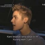 Ada moment dimana Justin sempat terjebak selama 3 jam #JustinBieberOnNETtv http://t.co/fLsxxYkINO