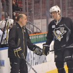 Here are a couple pics from #Pens skate. Full updates from throughout the day in Pens Report: http://t.co/7WpkWOwc5r http://t.co/yn6sWfctU4