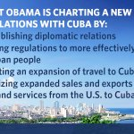 President Obamas taking new steps to reestablish diplomatic relations with Cuba: http://t.co/d9wUpV2aTT #CubaPolicy http://t.co/quV3Ny6zio