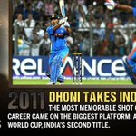 Unforgettable Moment for Cricket Lovers always...!! Thank you @msdhoni #10YearsofDHONIsm http://t.co/E1nkvc9xPV