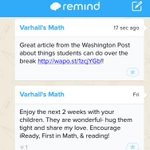 Im using @RemindHQ to keep students engaged over break! Thanks @dcpublicschools @washingtonpost and @brianjpick! http://t.co/9xrryBuTQD