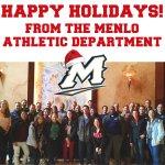 Happy Holidays from Menlo Athletics! #MenloMonday http://t.co/33gEYuhDQb