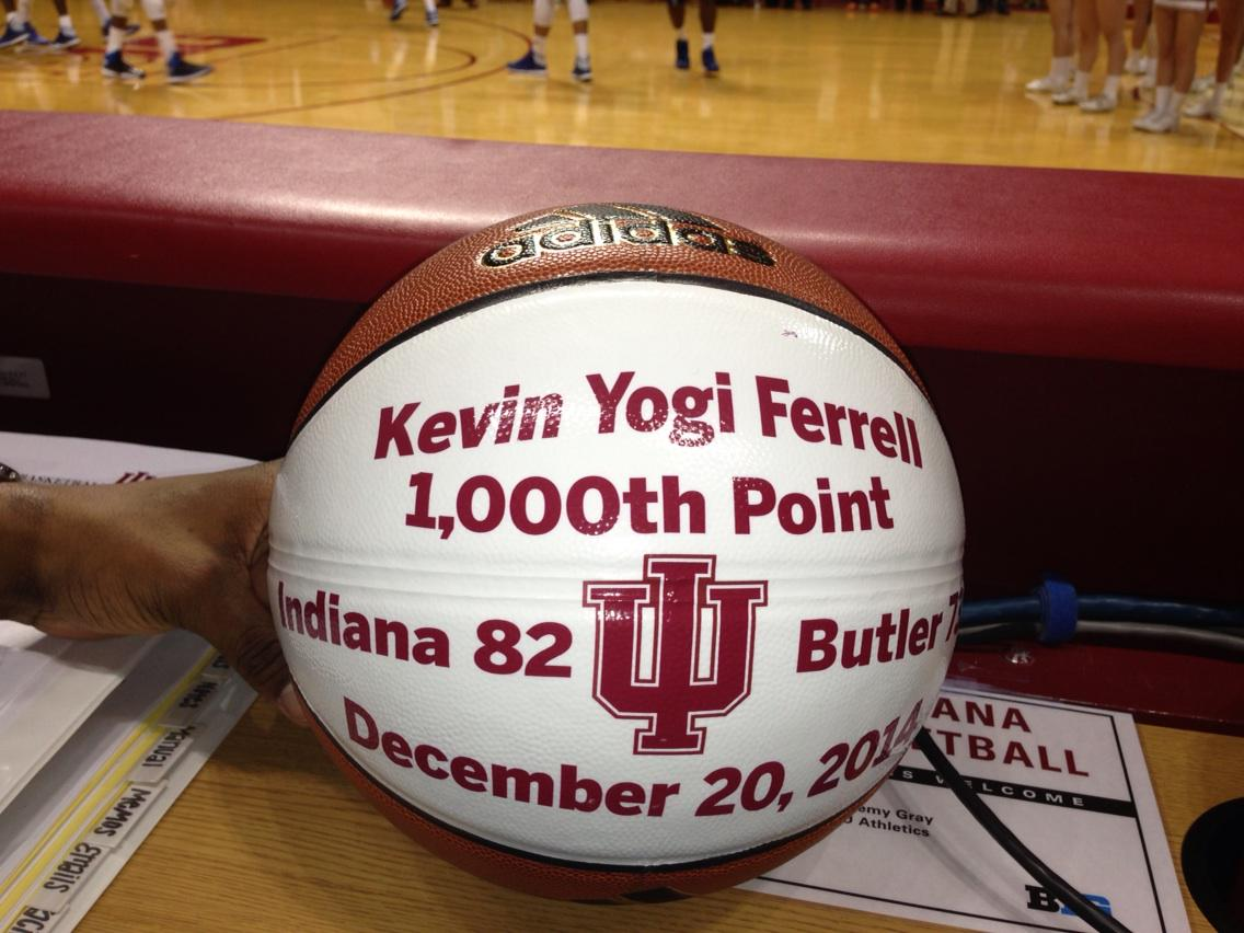 Congrats Yogi! 1,000 points at IU is hallowed ground. #GoIU #iubb http://t.co/RLTPJaFjXy