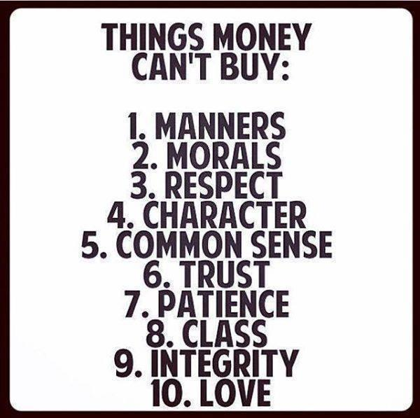 10 Things Money Can't Buy. Would you add anything to this list?  via @Timothy_Hughes @PostPlanner http://t.co/kYXoHujLeg