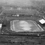 Aerial view of the Watford v Man Utd FA Cup 4th Round tie in 1949/50. United won 1-0, with 32,419 watching. http://t.co/R8rLV2aefI