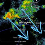 Heavy rain snow mix headed into #ABQ metro.  Heavy snow falling over northern mtns too! #nmwx http://t.co/sMuBeNlo2C