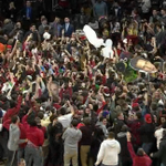 Temple gets 1st win over Kansas since 1995. That gets a court storm in Philadelphia. http://t.co/iuwIzYESGH