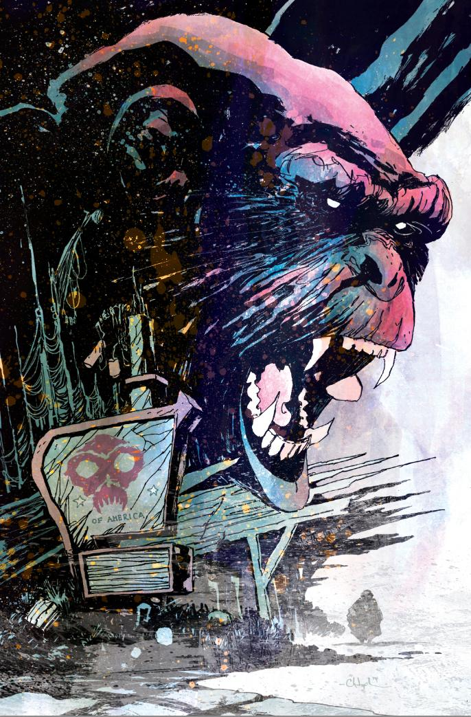 Cover; DAWN OF THE PLANET OF THE APES #2 (from @BoomStudios; written by @MichaelMoreci; interiors by @DanMcDaid). http://t.co/3VX4tEMpXS