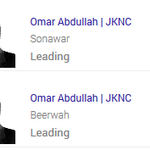 Jammu and Kashmir leads: Omar Abdullah leads from Sonawar and Beerwah.  #NDTVResults