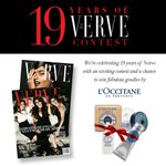 RT @vervemagazine: Verve turns 19 this month! Answer these questions and you could win goodies by @LOCCITANE: http://t.co/Llbcefi8HH http:/…