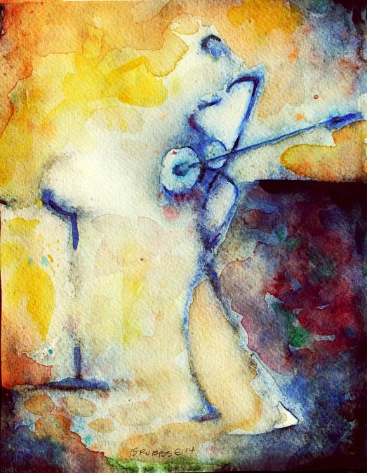 Watercolor study, 'Musician', 2014. #Painting #FollowArt #art http://t.co/ks5jvOrHbg