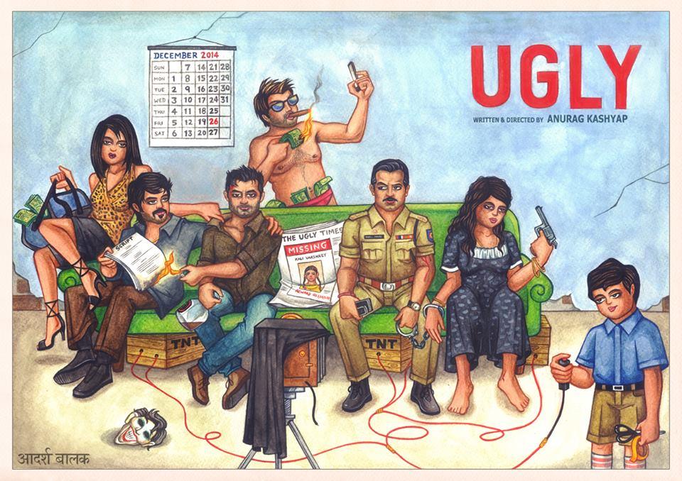 Adarsh Balak's done the poster for Anurag Kashyap's upcomung Ugly. http://t.co/Jgy50lU7da http://t.co/qIyAnJ5N3C