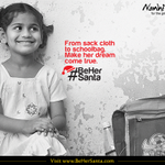 RT @NanhiKali: She's never had a Santa Claus, but this year, you can #BeHerSanta. http://t.co/jcBv5aWPGu http://t.co/HIBnzlg5sY