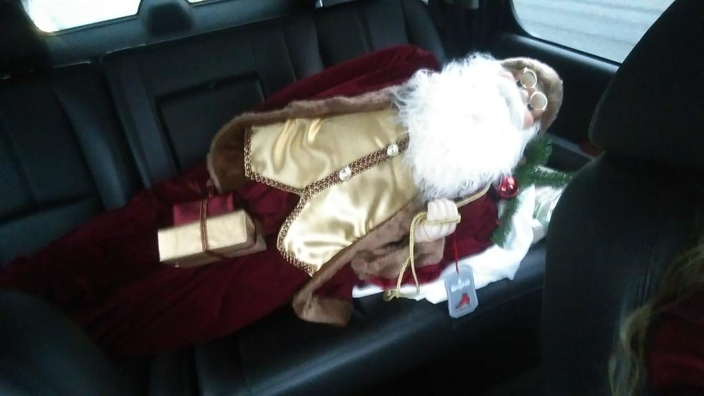 Shhh don't tell anyone but I've got Santa! He's had a lil too much moonshine! http://t.co/agfV7sBXEV
