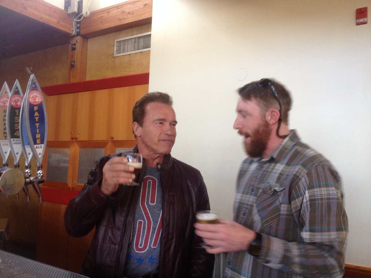 Remember Saturday when @Schwarzenegger came by the brewery and drank a beer with us? Good times... http://t.co/OUtdpeA0Yn