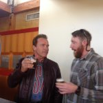 RT @newbelgium: Remember Saturday when @Schwarzenegger came by the brewery and drank a beer with us? Good times...
