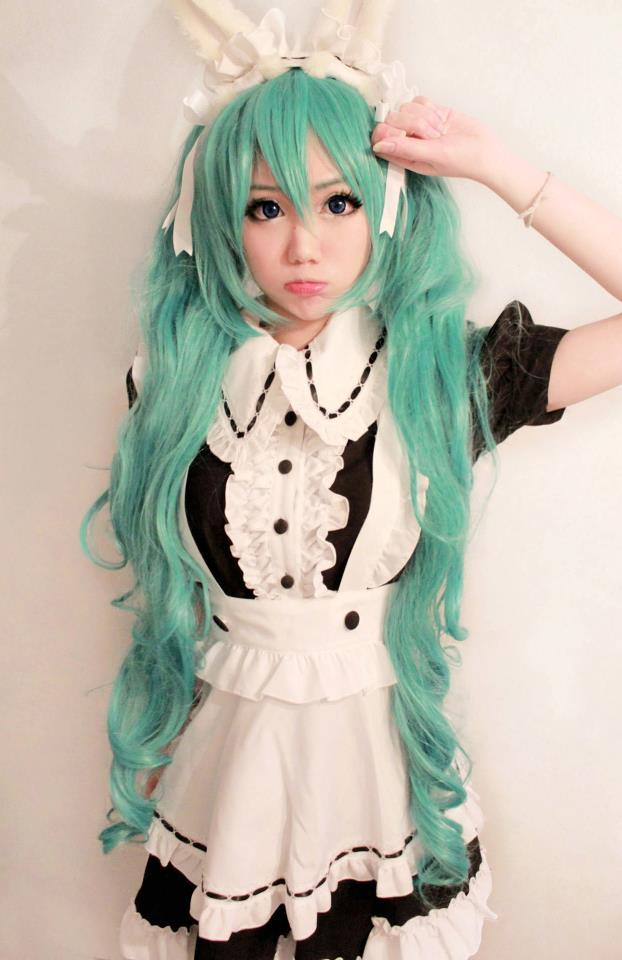 Maid Miku (♥‿♥) #combo #cosplay http://t.co/MG3Ovnlsdg