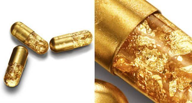 """Gold pills"" are sold for $425 each. When consumed, they will turn your poop into glittering gold."" http://t.co/2oClmBvxJt"
