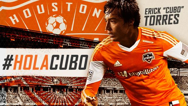 """JUST IN: The Dynamo have signed Erick """"Cubo"""" Torres as a Designated Player --> http://t.co/V1BIG63FaN #HolaCubo http://t.co/triFXGlRF3"""
