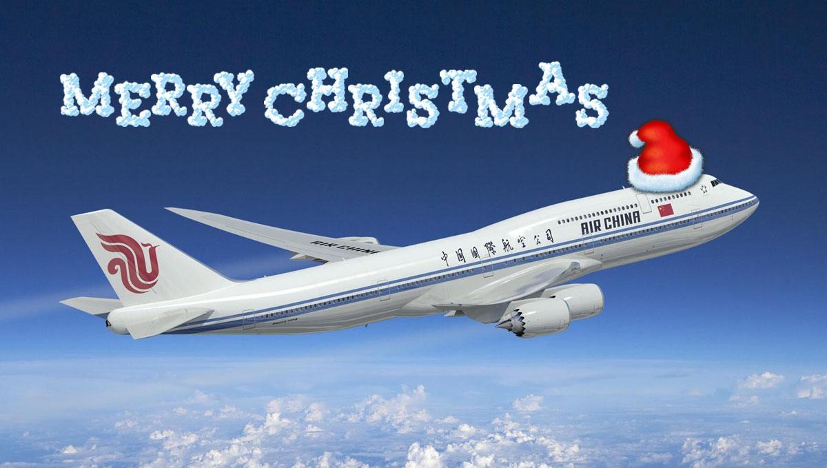 747-8I with a santa hat