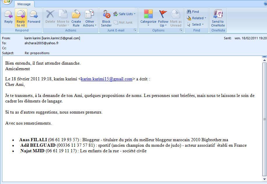 Selon ce msg publié par @chris_coleman24, @bigbrother_ma se serait fait briefé par laDGED la veille des manifs #Feb20 http://t.co/6bUMtO9YKk