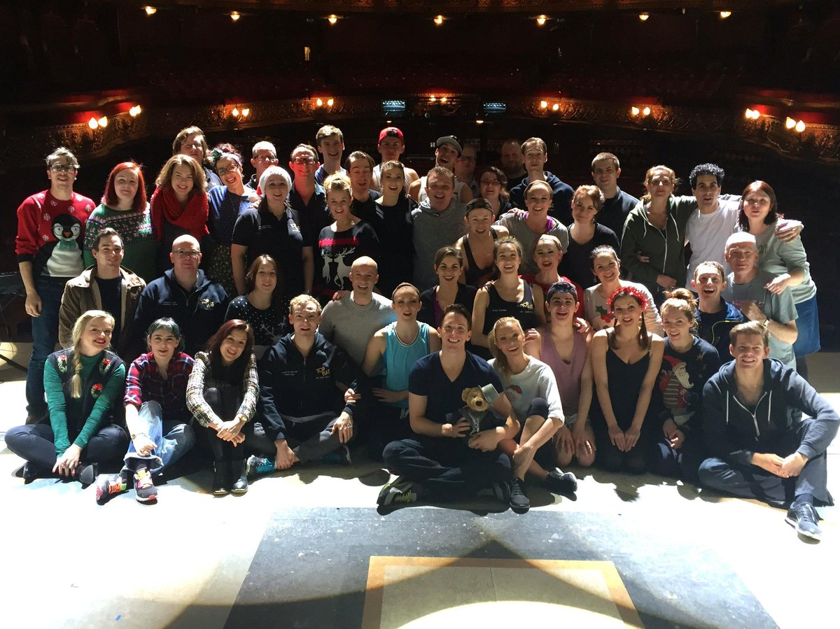 Merry Christmas from the Cast, Crew & Band of Top Hat — at Leeds Grand Theatre. http://t.co/UW6aWr7CHO