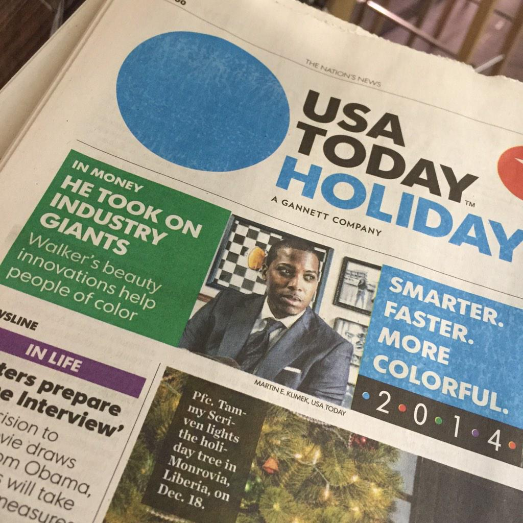SPOTTED IN LAX: @tristanwalker on the cover of @USATODAY!  Very exciting day for @bevel and @walkercobrands fam.