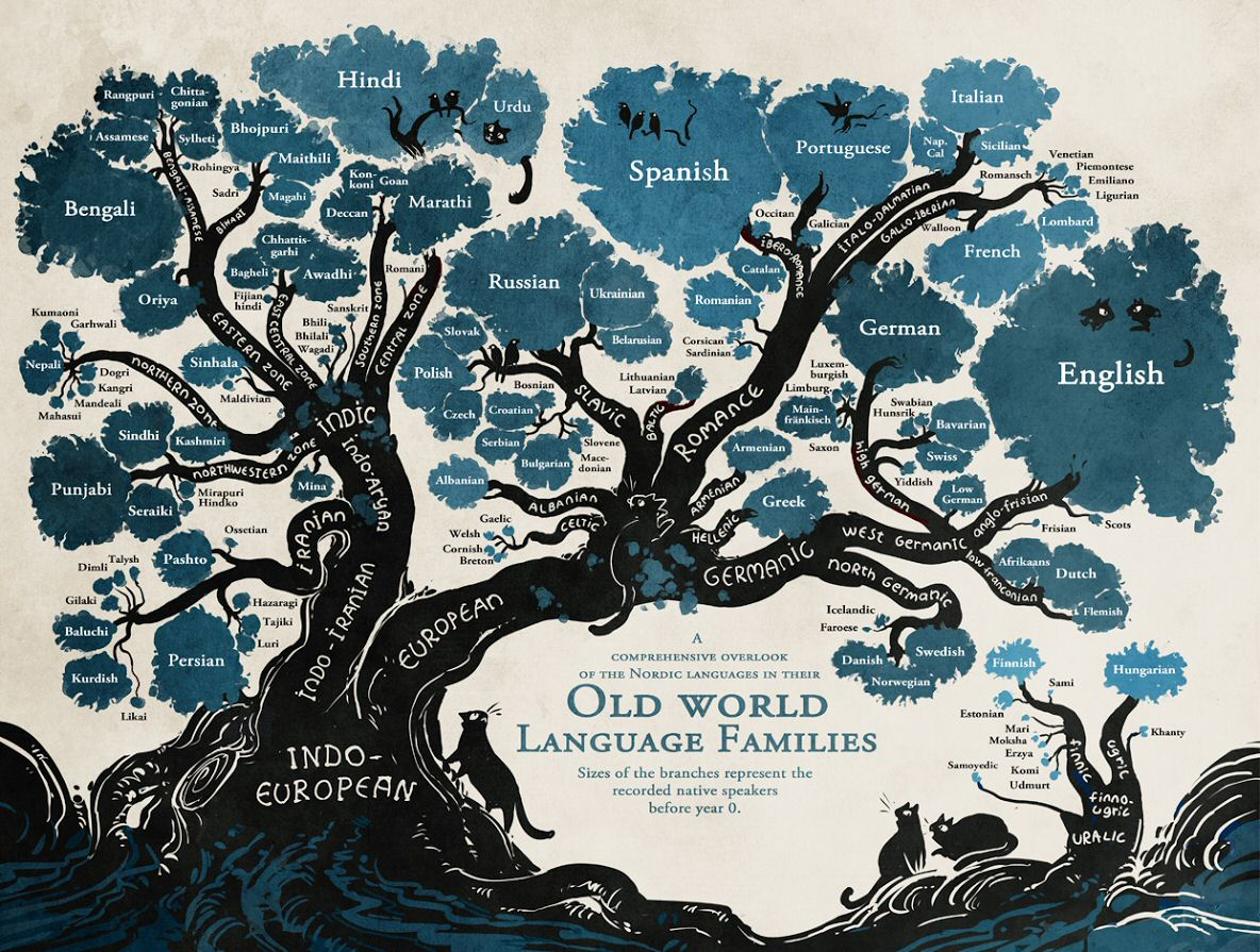 """""""@Manishka78: """"@pickover: Feast Your Eyes-Linguistic Family Tree. Source: http://t.co/QWGsLTDoed http://t.co/k7IEO305jK"""" @baileydlawrence"""