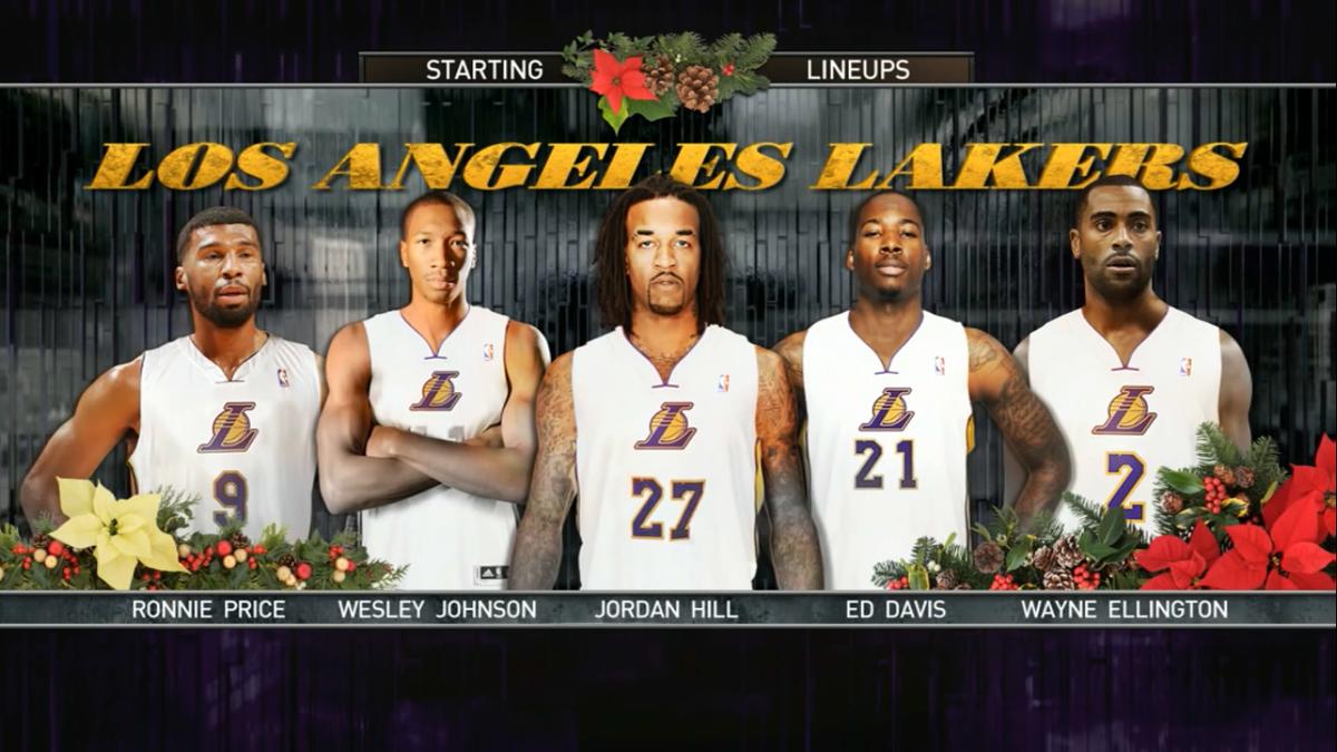 Hubo una Navidad en que los Lakers salieron con este quinteto... http://t.co/CMZtTQaPR0