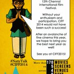 RT @ChennaiIFF: Thank you for being a part of #CIFF2014 #ciff