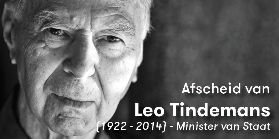 Afscheid van Leo Tindemans, absoluut @cdenv-boegbeeld en uitzonderlijk staatsman. Persbericht: http://t.co/B6TFi0bS3j http://t.co/XvhCZIeWeJ