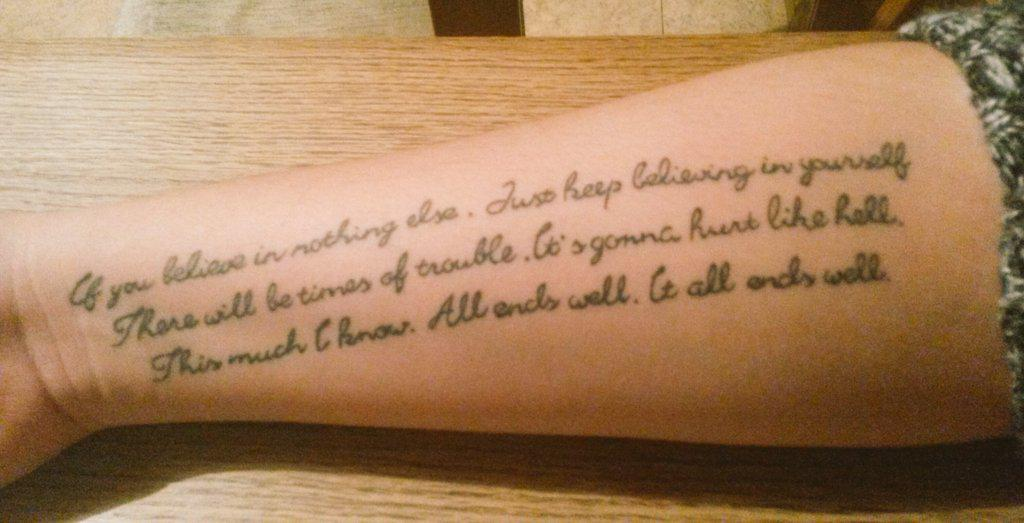 Since everybody posting pics about their @alterbridge tattoo, here's mine. Got it this August. Means so much to me