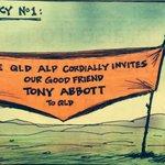 #QLDpol, #abbott Invitation by @leahycartoons © http://t.co/5qzQaMg2AH #QldVotes #auspol http://t.co/8DXfNTDvwD oㄥO