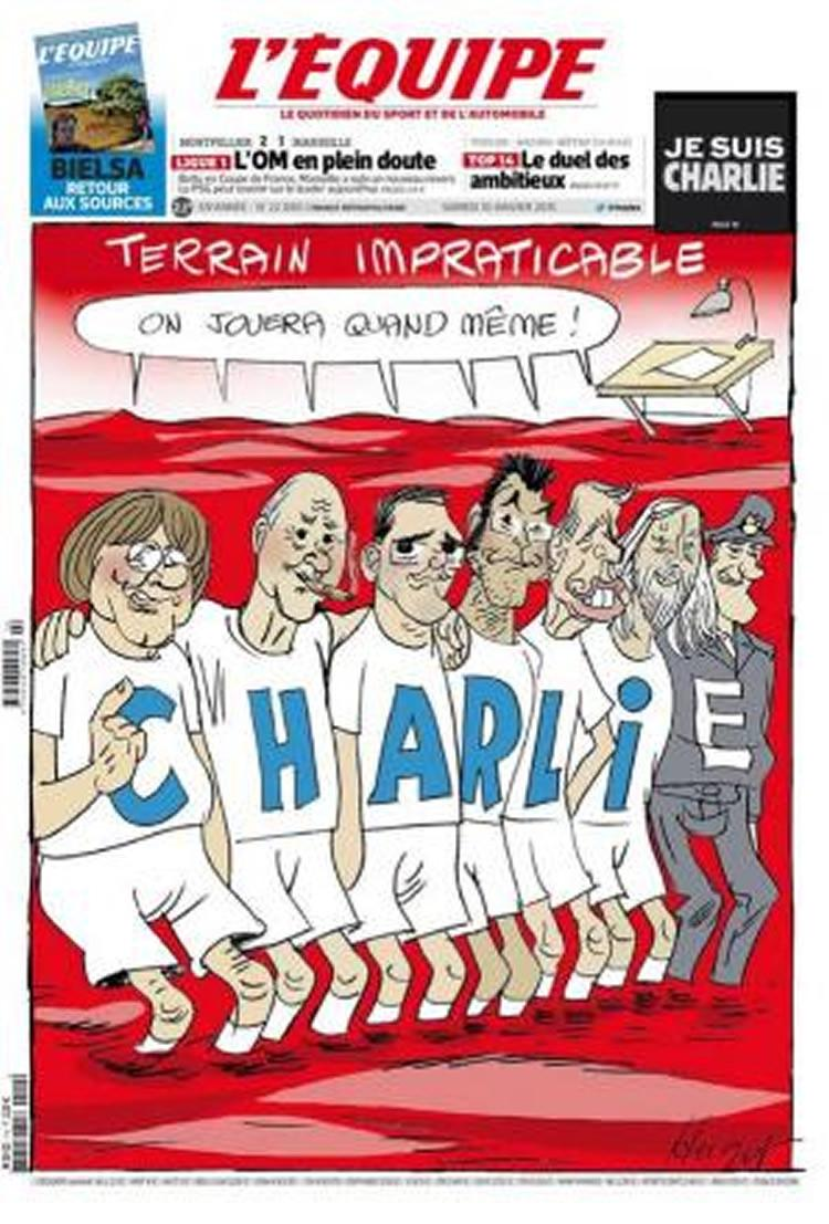 LEquipe again show solidarity over Charlie Hebdo attack with front page artwork