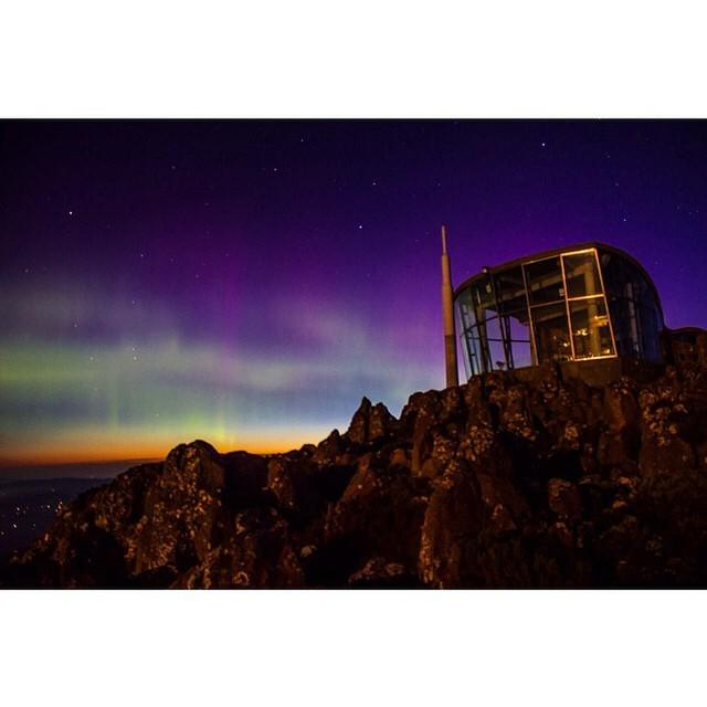 MatadorN reader @cbowles14 caught an awesome lightshow on top of Mt Wellington, Tasmani...