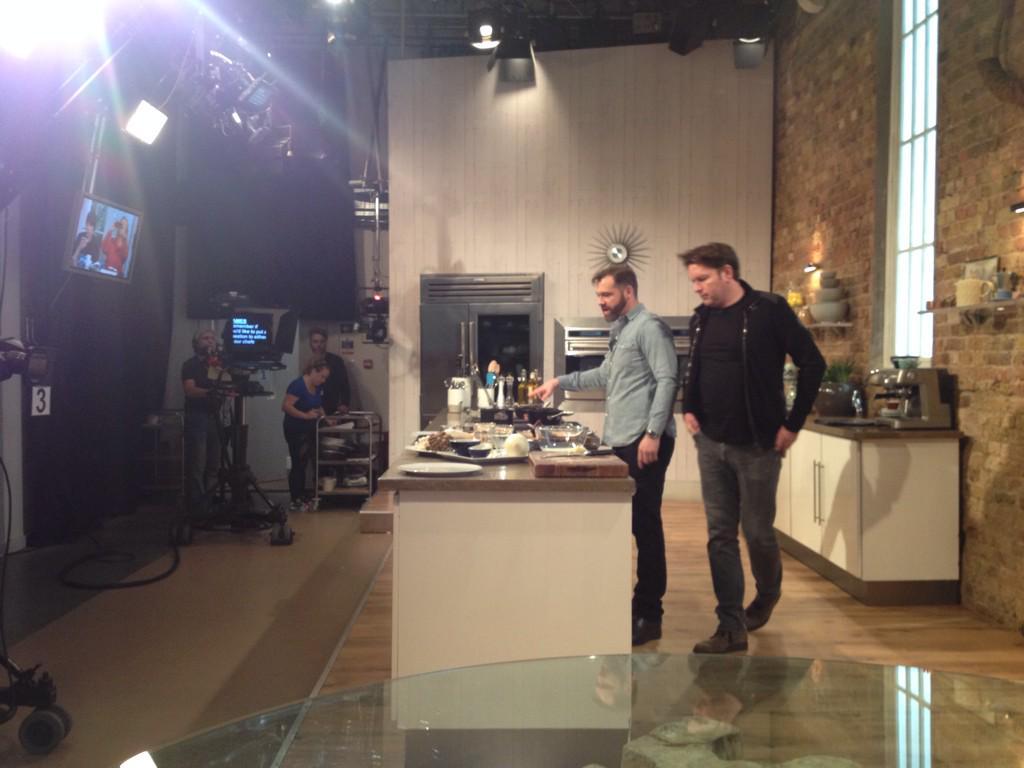 With @Rokachef @SaturdayKitchen @SaturdayKitchen @jamesmartinchef in pre show run through http://t.co/JRXvofoL7m