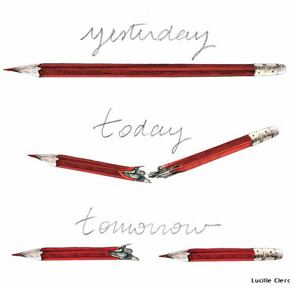 This widely shared cartoon about the #CharlieHebdo attack is actually by @LucilleClerc and not #Banksy http://t.co/HxKI8pefcU