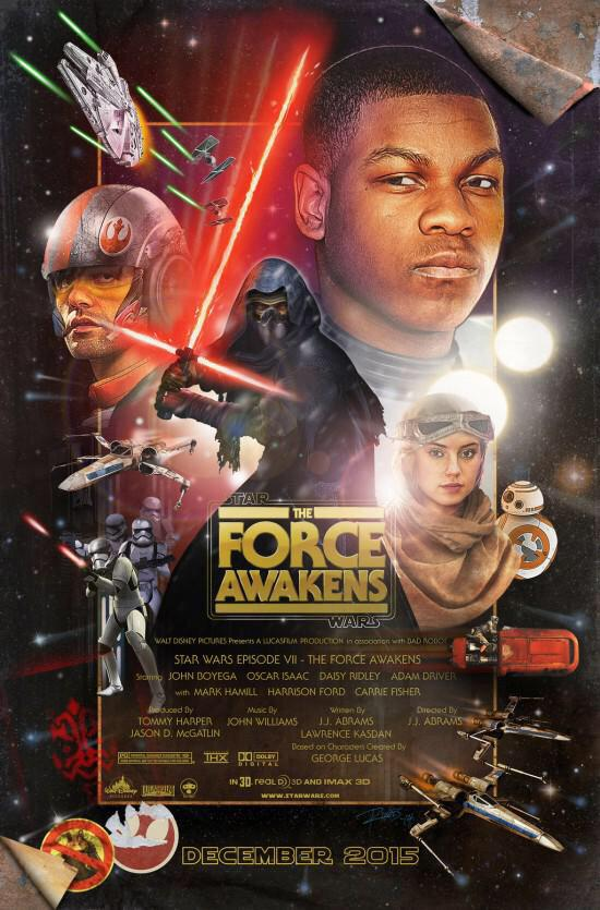 Póster fan-art de 'Star Wars: El Despertar de la Fuerza' http://t.co/M9Ftixeun9