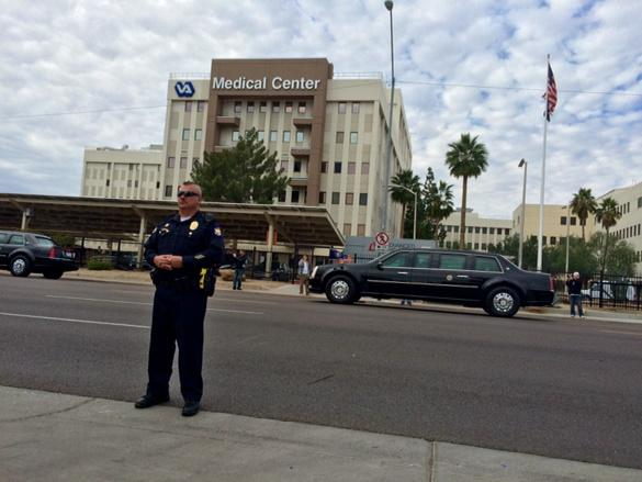 ".@RepJeffMiller on POTUS' PHX VA Drive-By: ""I hope he at least slowed down."" Photo via @william_pitts http://t.co/nTeecRFxik"