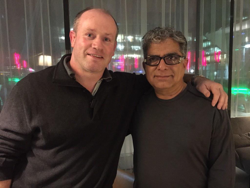 @DeepakChopra has arrived !! Here having a drink and a chat. @PendulumSummit tomorrow,1800 delegates !! Can't wait ! http://t.co/1zhoO2jLat