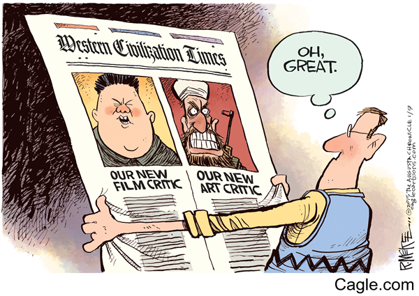 Nice Rick McKee #CharlieHebdo cartoon from our http://t.co/ivLLxNHBX7  collections  #JeSuisCharlie #Sony #sonyhack http://t.co/RW0GuoaolF