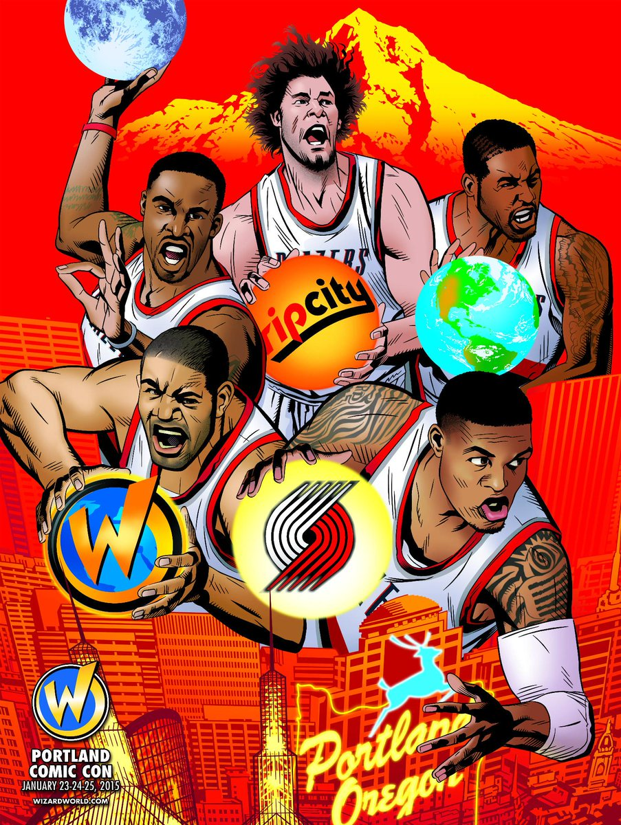 Free @WizardWorld Comic Con posters tonight at @TrailBlazers vs Miami! #RipCity http://t.co/pPUPhkoCfY #ad http://t.co/MyWTm8vFWK