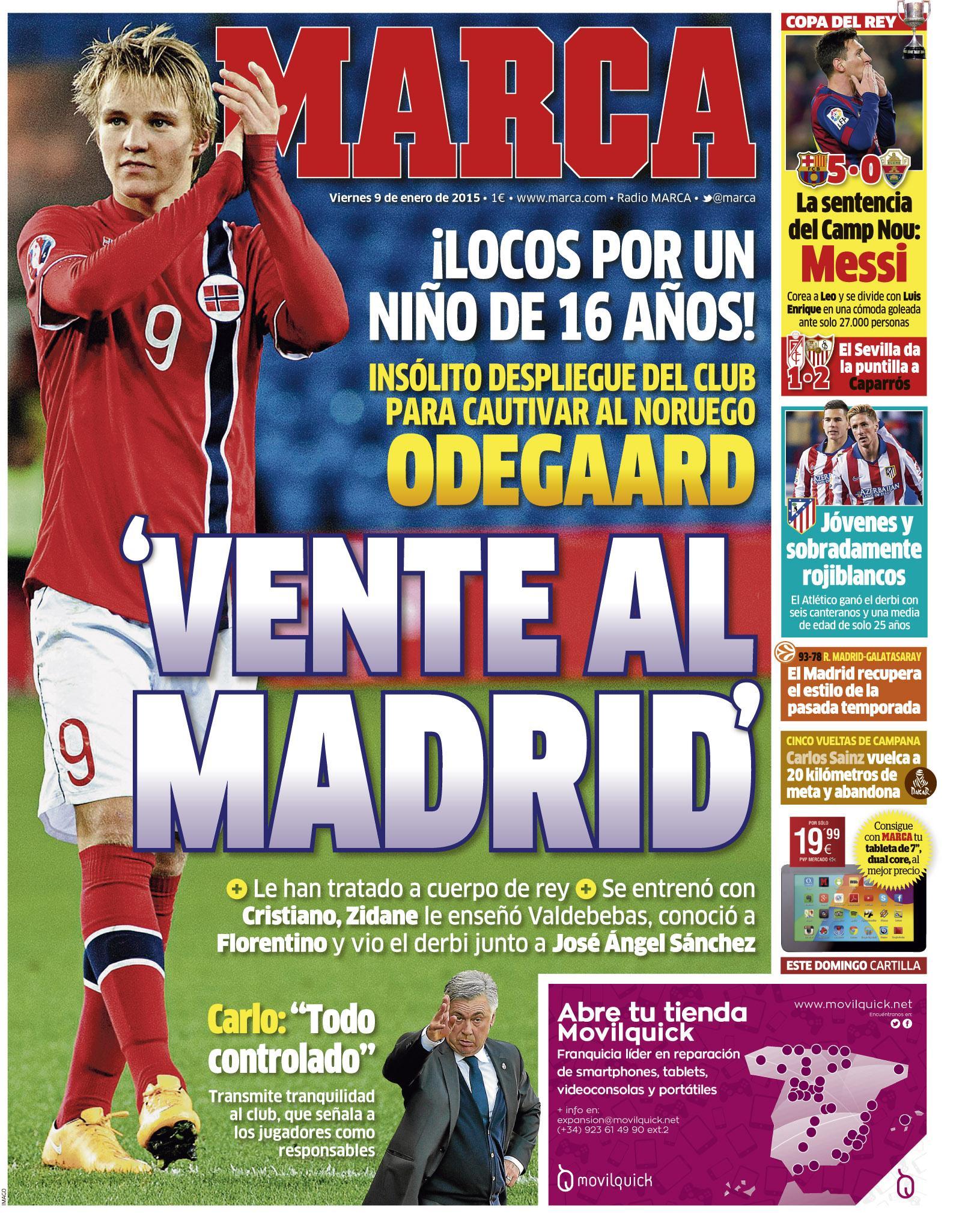 #LaPortada 'Vente al Madrid' http://t.co/4FJ6YlM3PV